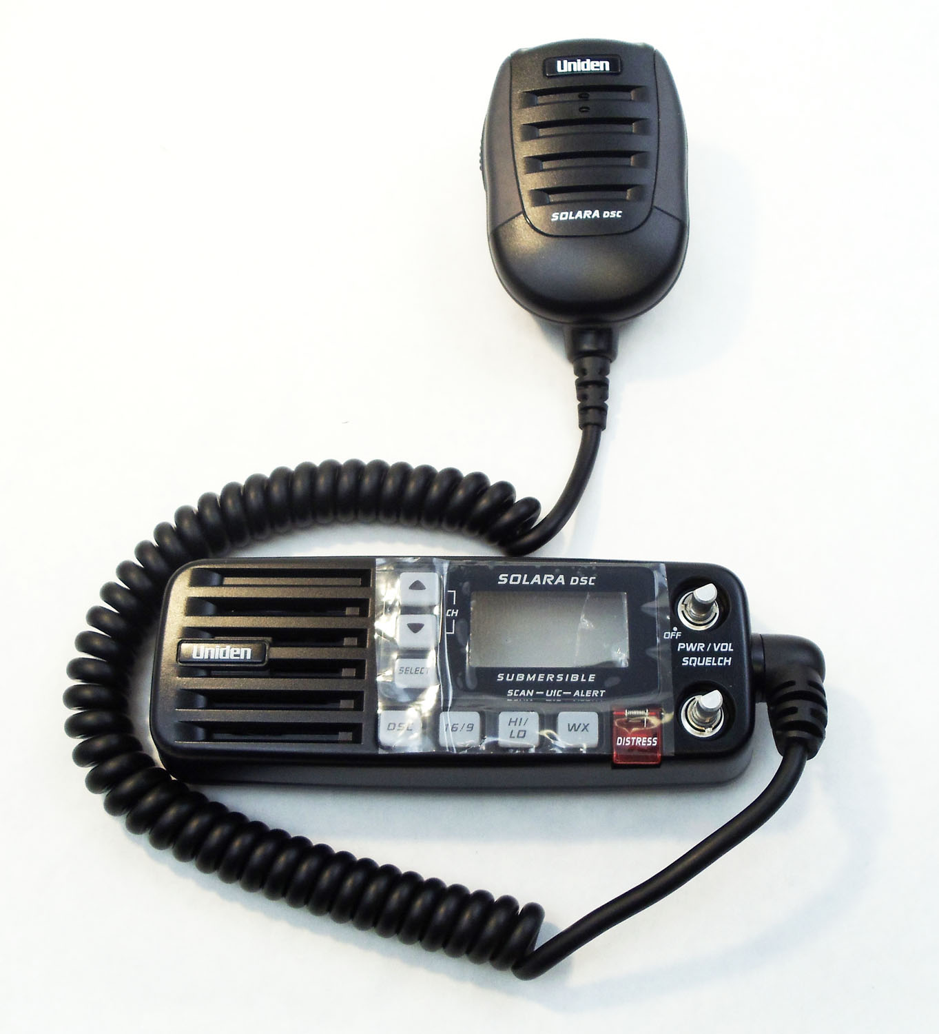 BMKYSOLDSC-B - Uniden Black Replacement Microphone and Front Panel for SOLARA-DSC