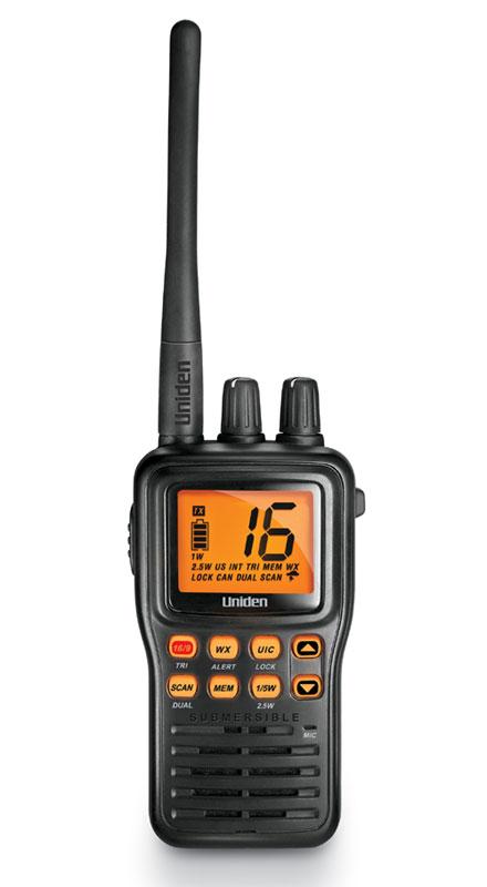 MHS75 - Uniden Submersible Compact Handheld VHF Marine Radio