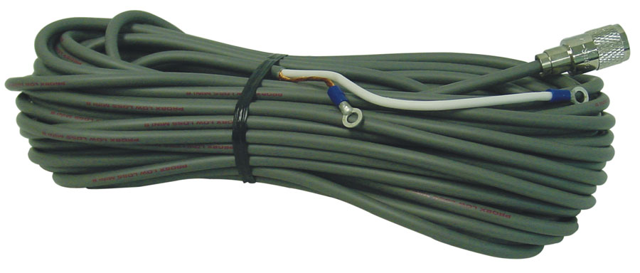 PL8X6 - Procomm CB Coax Cable RG8X With PL259 And Ring Terminals