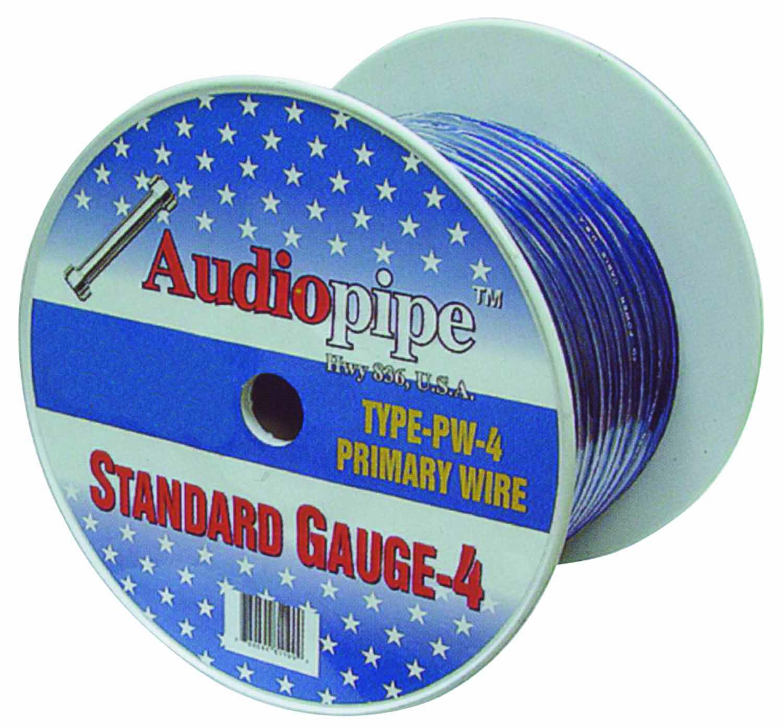 PW4100-B - Audiopipe 100' 4 Gauge Oxygen Free Power Cable (Black)