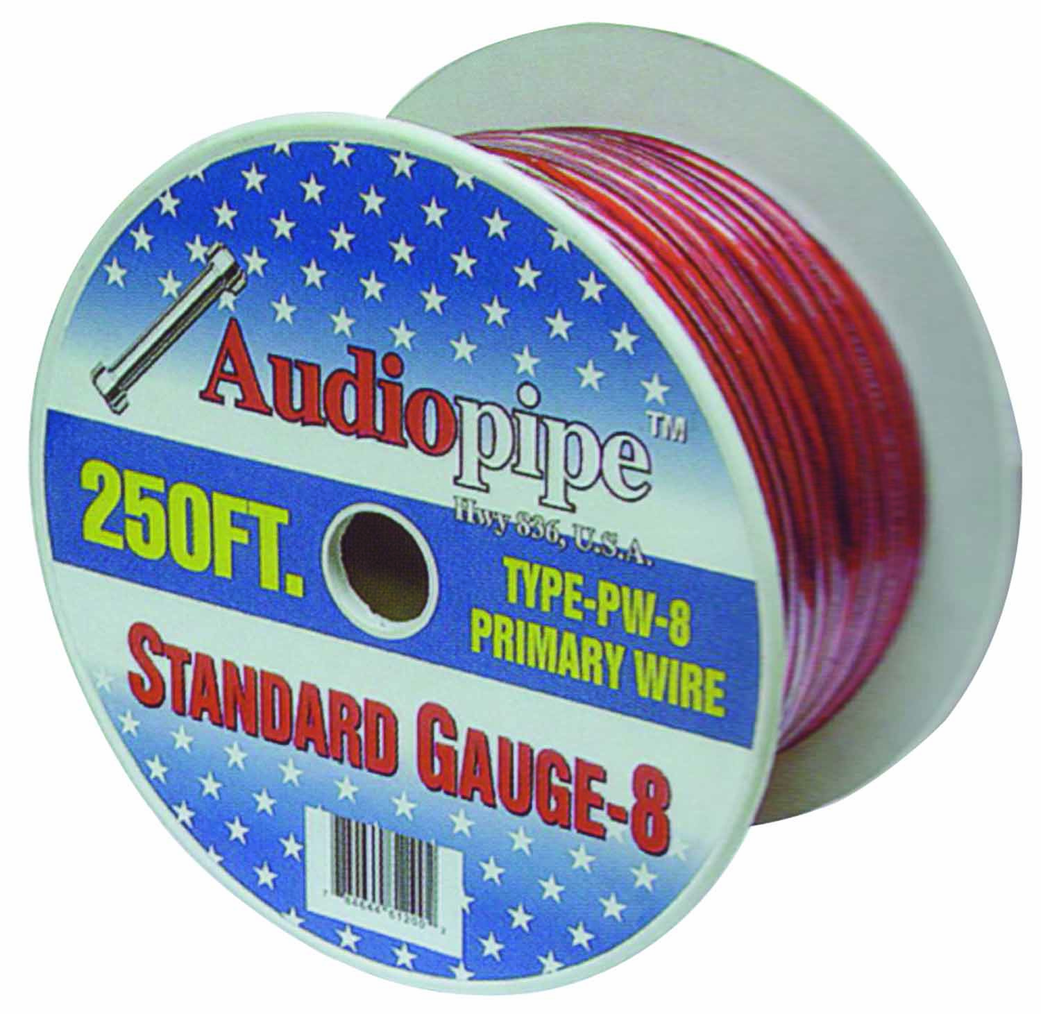 PW8250-BL - Audiopipe 250' 8 Gauge Oxygen Free Power Cable (Blue)