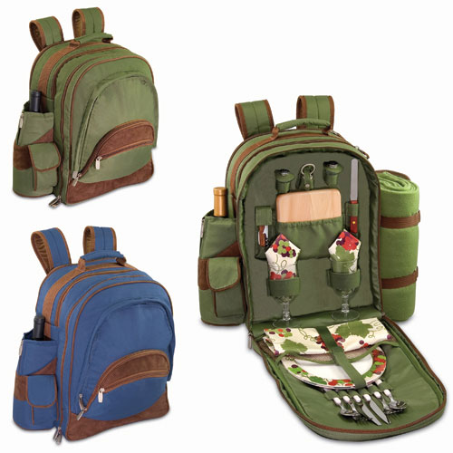 52858515000 - AVALON DLX PINE PICNIC BACKPACK FOR 2 W/BLANKET