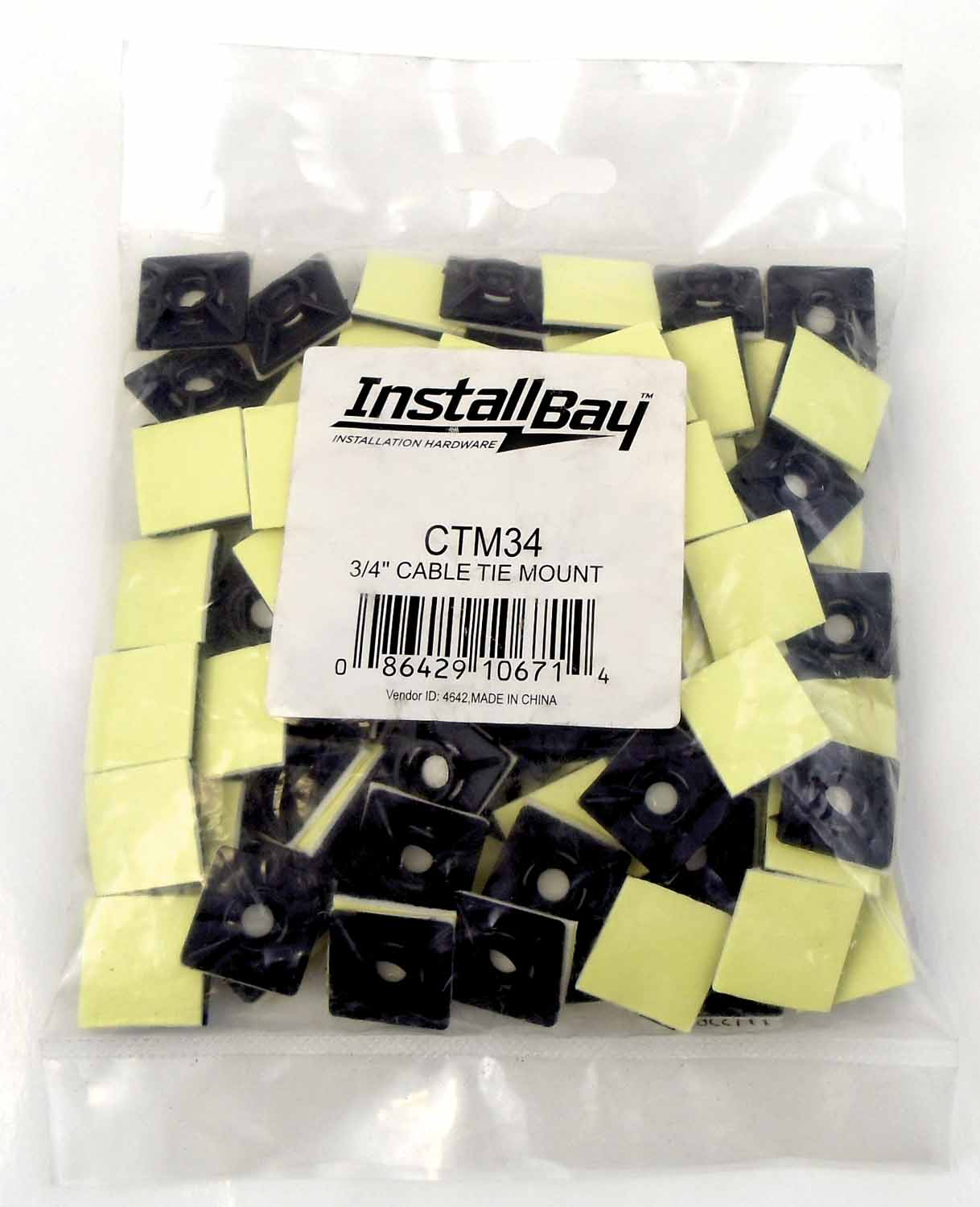 CTM34 - Metra 100 Pack Adhesive Backed Cable Ties