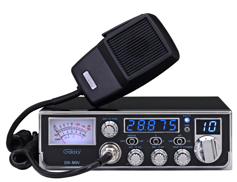 DX86V - Galaxy 45 Watt Mid-Size 10 Meter Amateur Ham Radio with AM/SSB