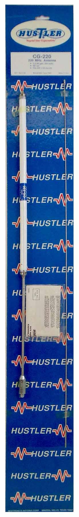 "CG220 - Hustler 58"" 200 Watt 5/8 Wave 220 MHZ Antenna"