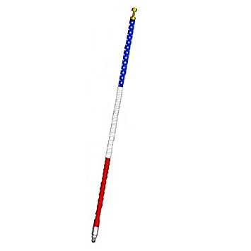 FS4-USA - Firestik II Tunable Tip 4 ft. CB Antenna (Red, White & Blue)