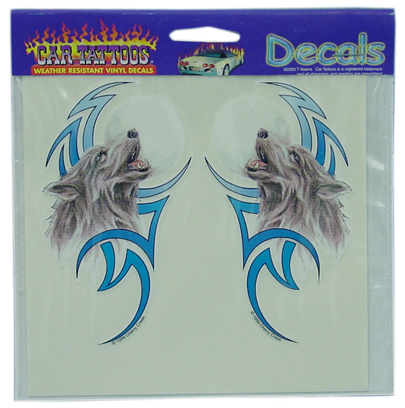04560081 - Tribal Wolf Vinyl Car Decal