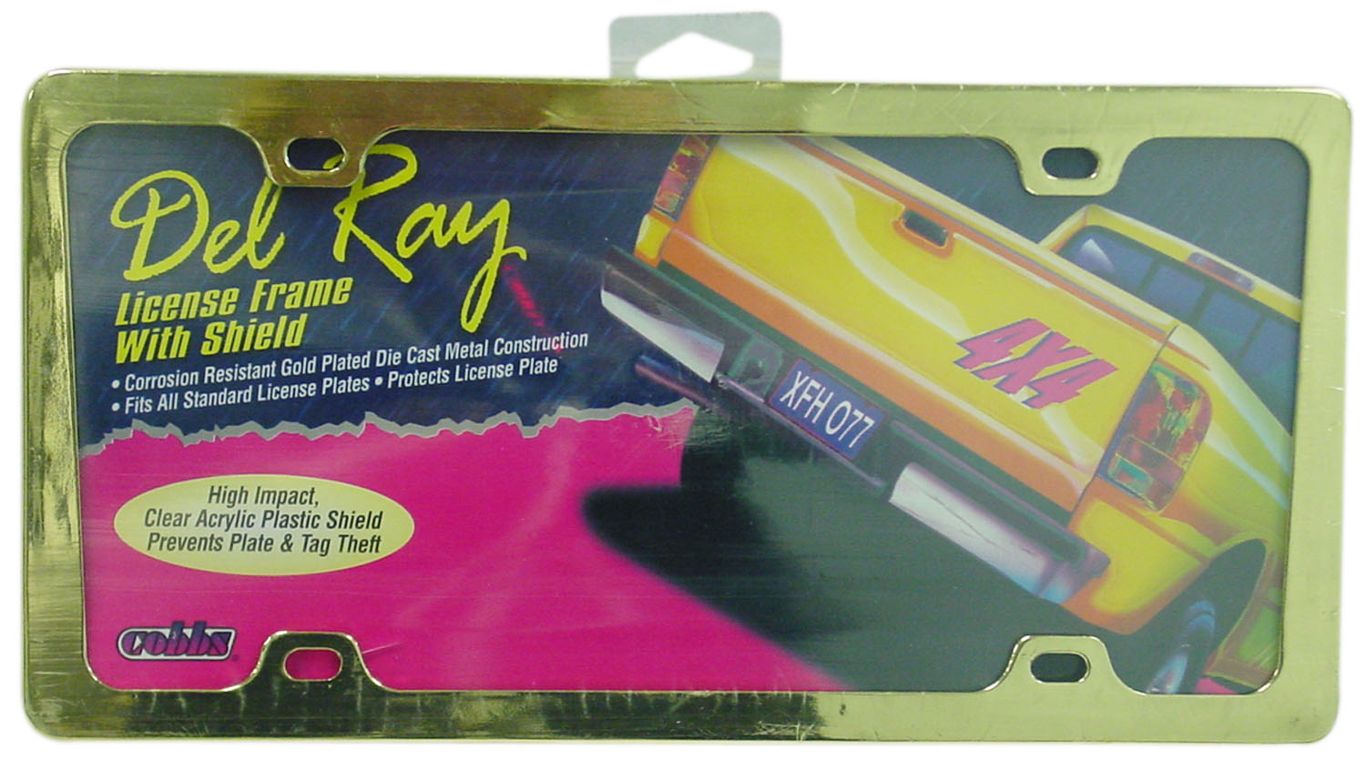 04746039 - Deluxe Gold Plated Die Cast Del-Ray License Plate Frame