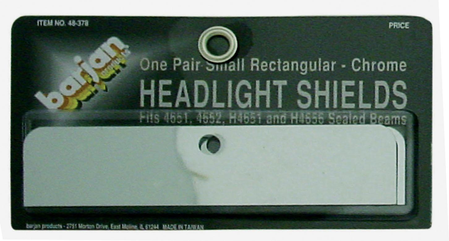 048378 - Small Rectangular Chrome Headlight Shields (Pair)