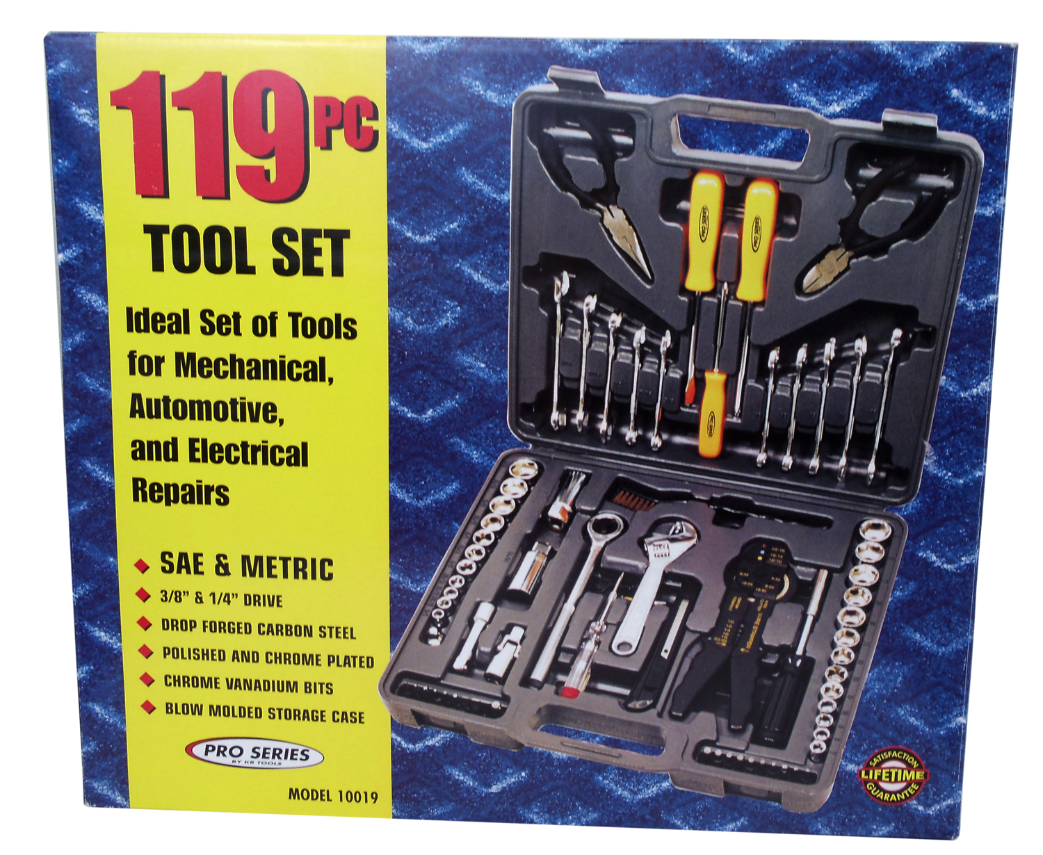 07510019 - 119 Piece Metric Tool Set