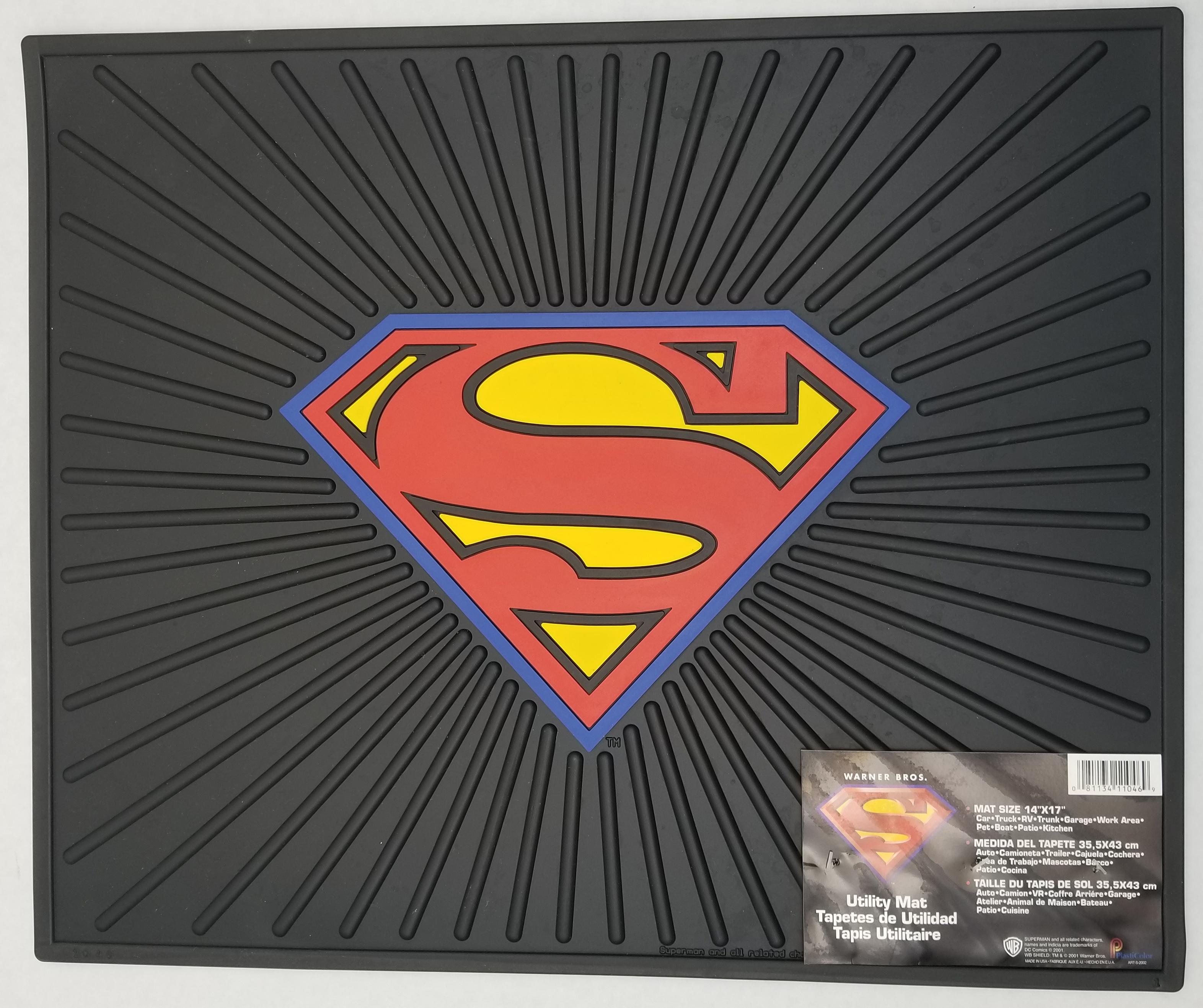 0241046 - Superman Logo Rubber Utility & Vehicle Mat