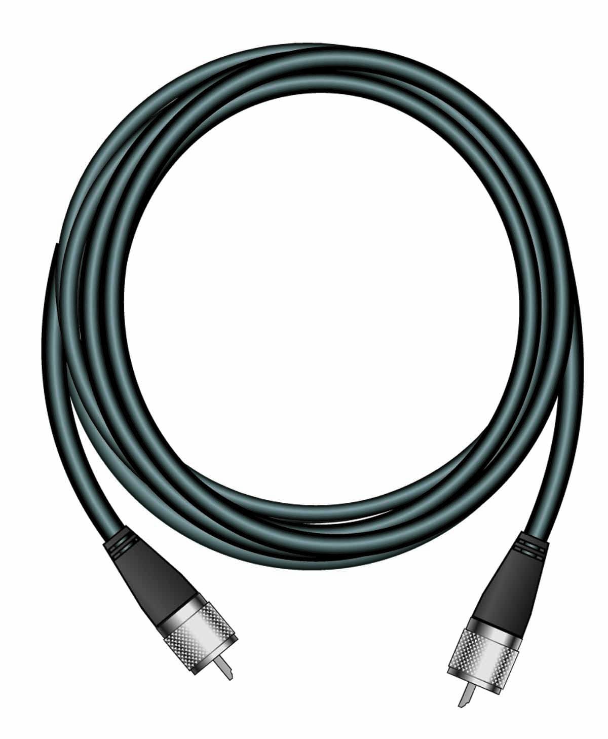 R8A - Firestik 9' Rg58A/U Coax Cable With PL259 Connectors