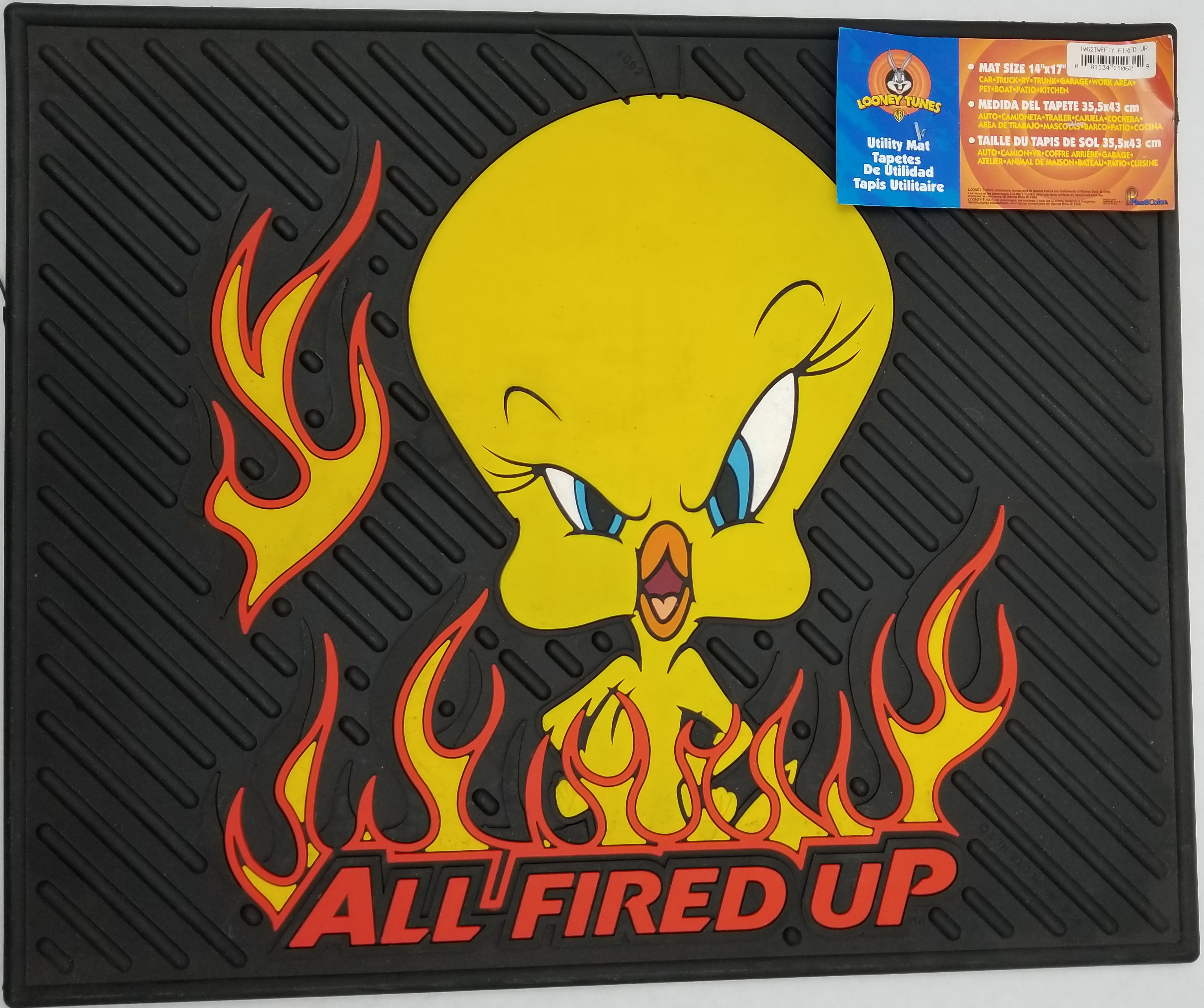 0241062 - Tweety All Fired Up Rubber Utility & Vehicle Mat